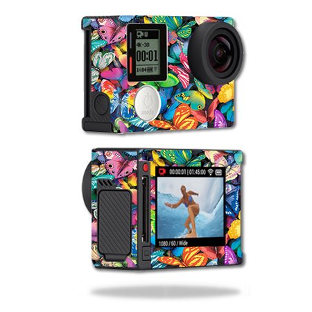 Gopro Halloween Party (Skin For GoPro Hero4 Silver Edition – Butterfly Party | MightySkins Protective, Durable, and Unique Vinyl Decal wrap cover | Easy To Apply, Remove, and Change Styles | Made in)