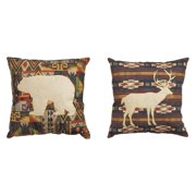 Evergreen Enterprises Wild Woods 18 in. Pillow - Set of 2