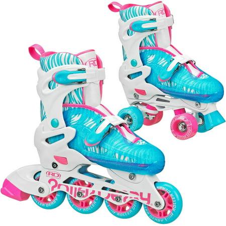 Roller Derby Rd 2N1 Inline Quad Roller Skates Combo  Girl