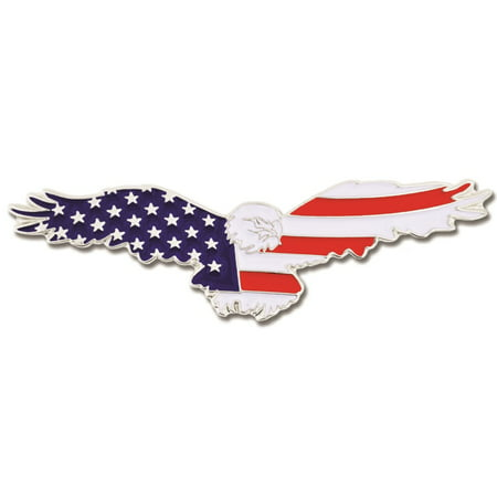 PinMart's American Flag Patriotic Soaring Eagle Enamel Lapel Pin (Cheap Lapel Pins)