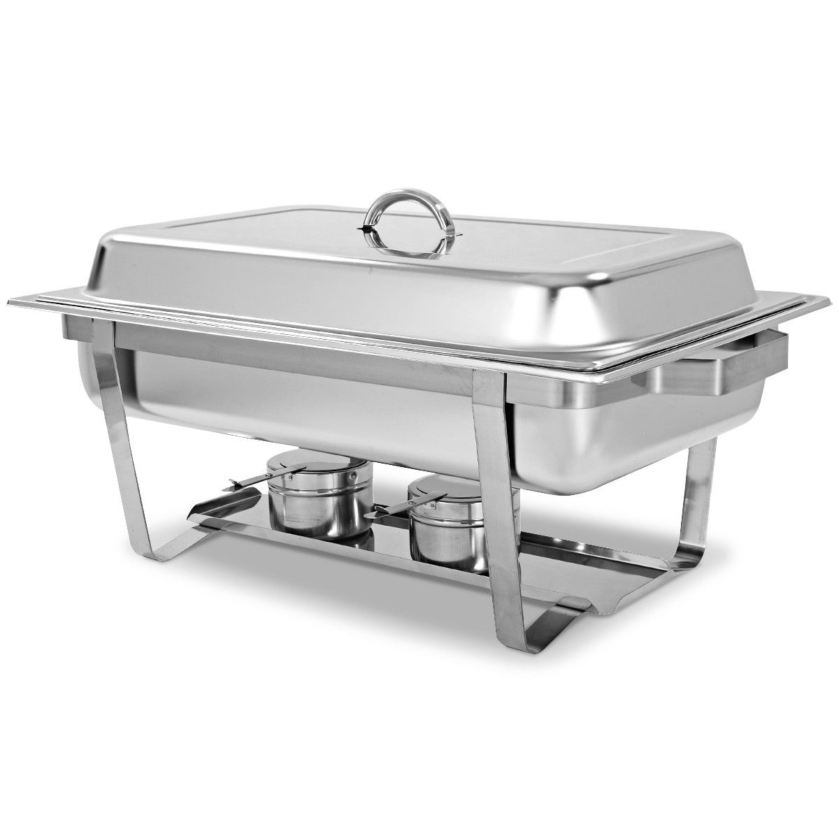 2 Packs Chafing Dish 9 Quart Stainless Steel Rectangular Chafer Full Size Buffet - image 8 of 10