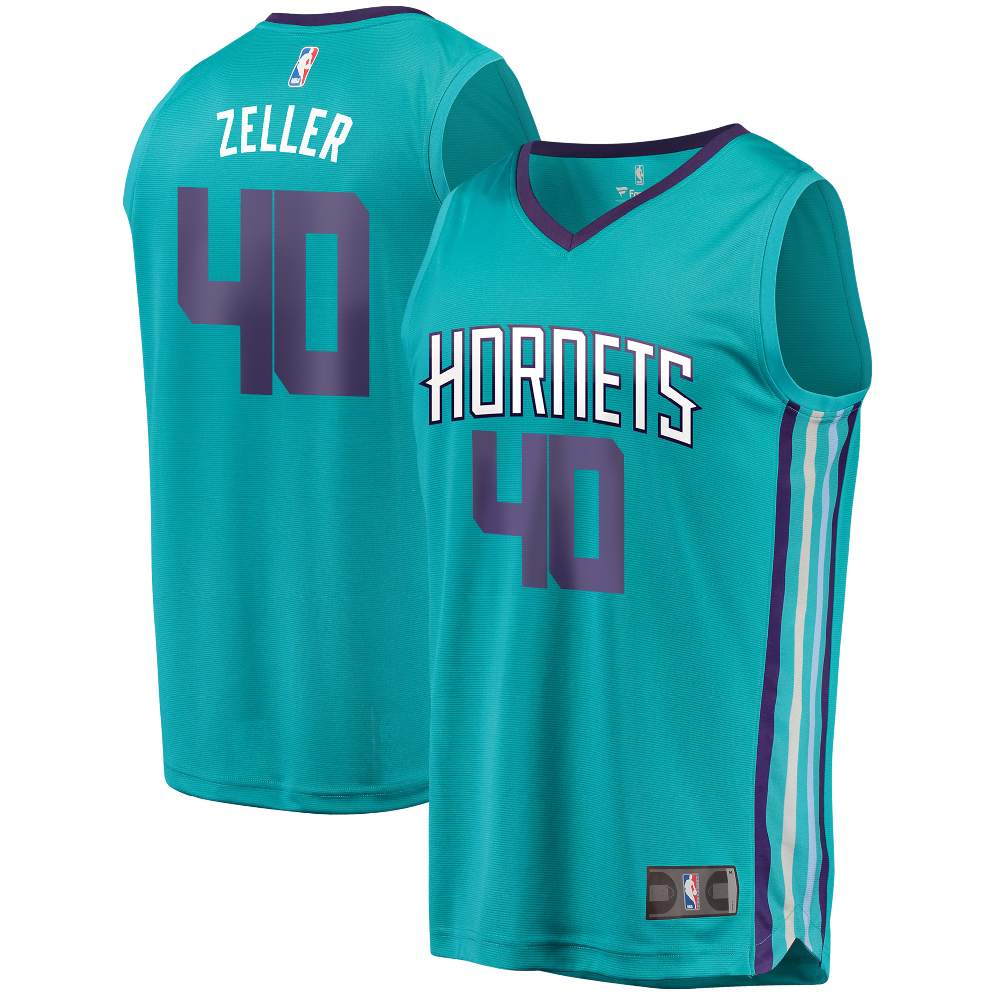 Cody Zeller Charlotte Hornets Fanatics Branded Fast Break Replica Player Jersey - Icon Edition - Teal