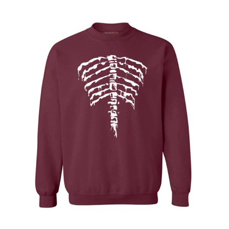 Awkward Styles Unisex Halloween Graphic Sweatshirt Tops Ribcage Halloween Skeleton