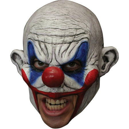 Clooney Clown Chinless Latex Mask Adult Halloween Accessory - Latex Clown