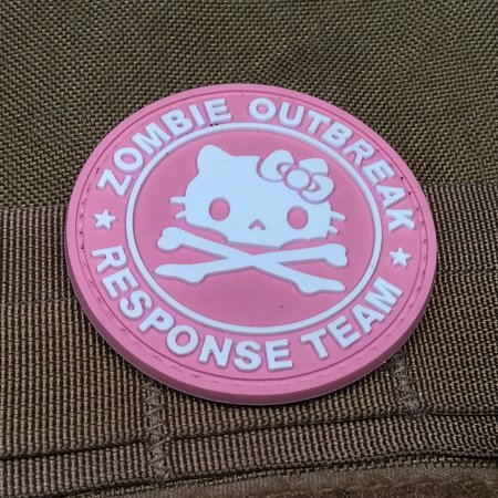 Zombie Outbreak Response Team Kitty PVC Morale Patch, Velcro Morale Patch by NEO Tactical