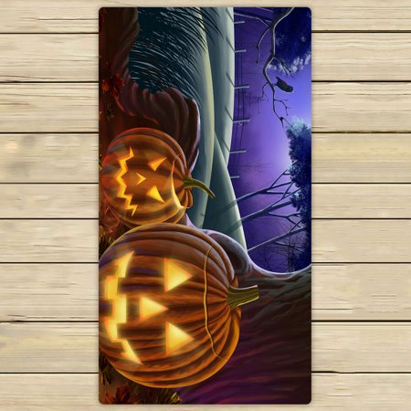 ZKGK Happy Halloween Hand Towel Bath Towels Beach Towel For Home Outdoor Travel Use Size 30x56 Inches