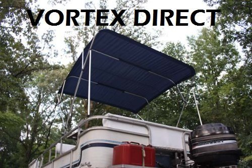 54 High 85-90 Wide and Hardware 1 to 4 Business Day DELIVERY Complete Kit Canopy New Beige//Tan Pontoon//Boat Vortex 4 Bow Bimini Top 10 Long Frame