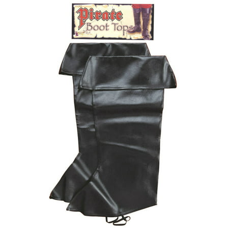Deluxe Vinyl Halloween Costume Accessory Boot Tops - Vinyl Halloween