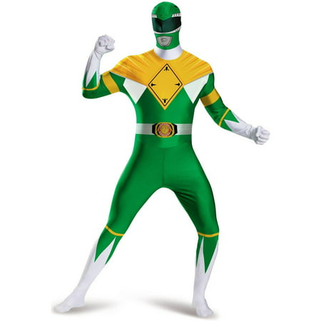 GREEN RANGER BODYSUIT COSTUME - Power Ranger Onesie Adults