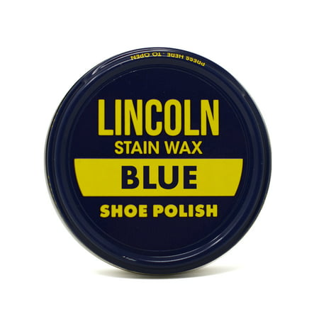 Lincoln Stain Wax Shoe Polish 2 1/8 oz - Blue
