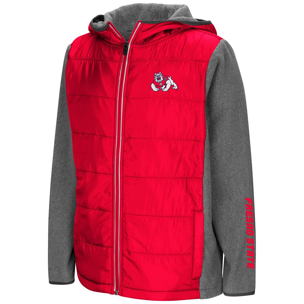 Youth Fresno State Bulldogs Full Zip Puff Jacket - S