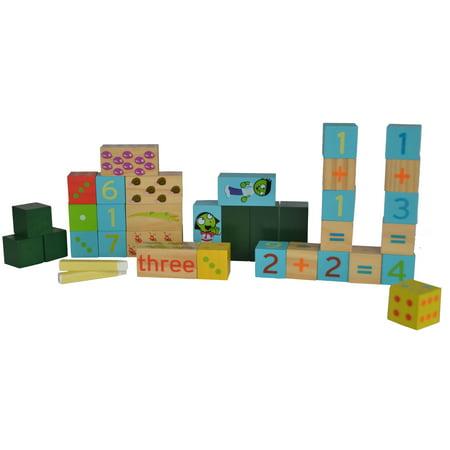 Wooden Number Building Blocks - image 2 de 2
