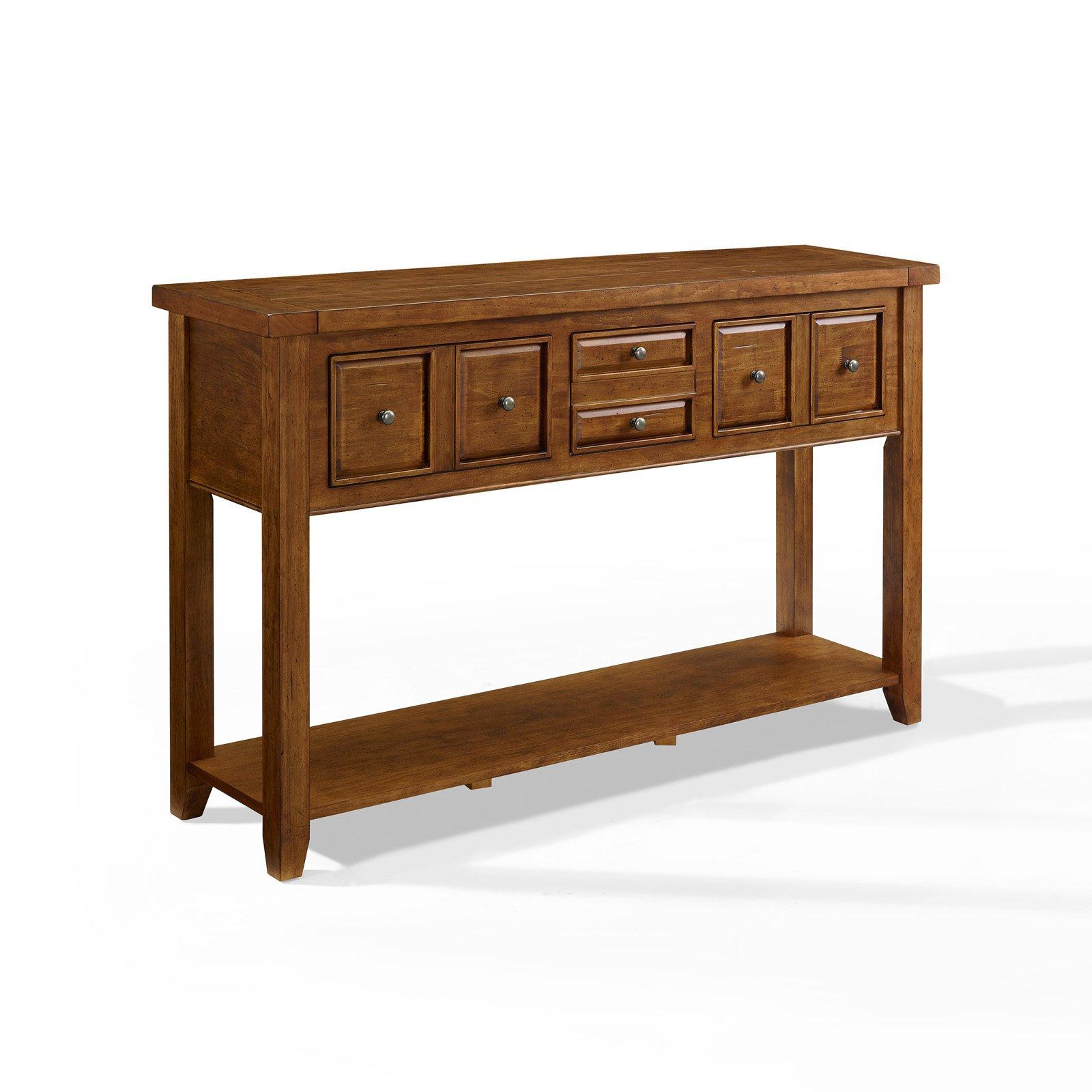 Crosley Furniture Sienna Entryway Table in Moroccan Pine