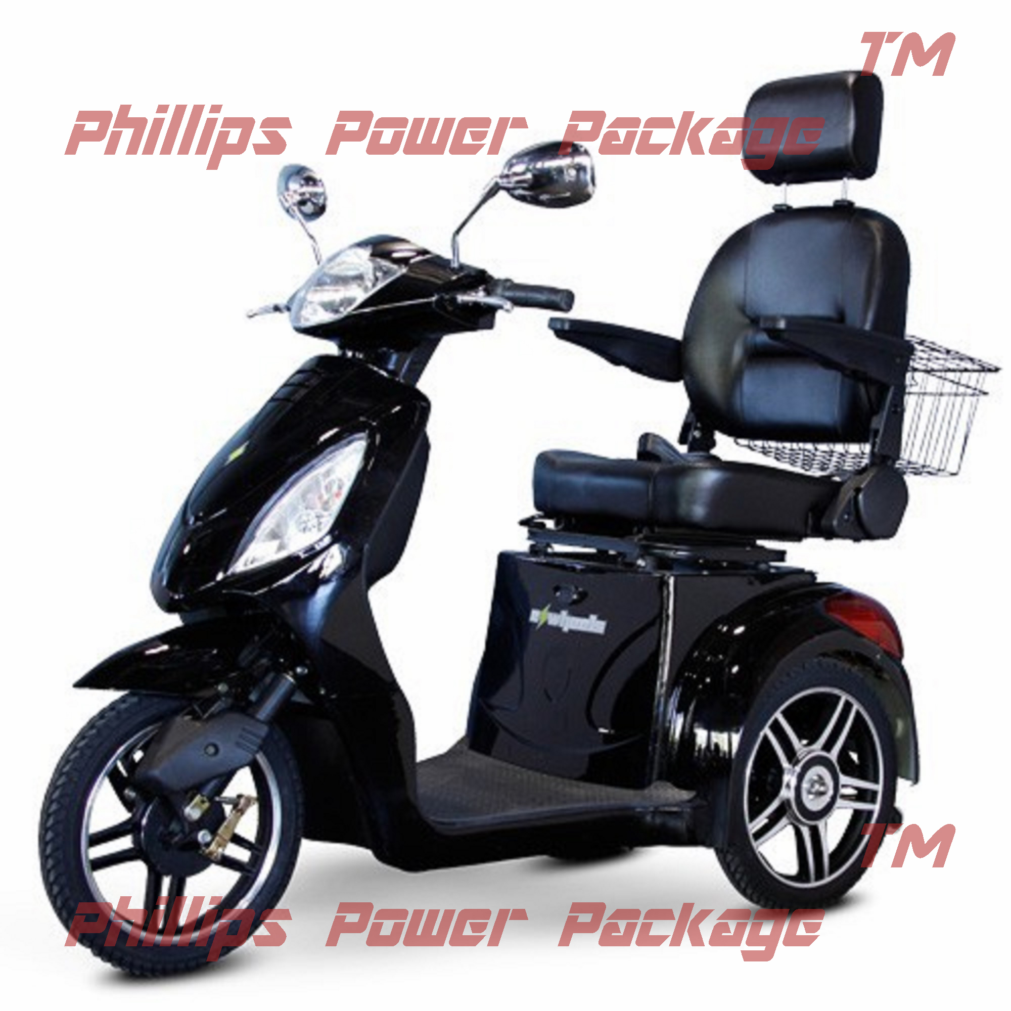 E-Wheels EW-36 Elite Scooter with ElectroMagnetic Brakes 3-Wheel Black by EWHEELS