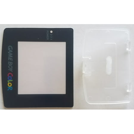 (Nintendo Game Boy Color Replacement Screen Lens + Transparent Battery Cover)