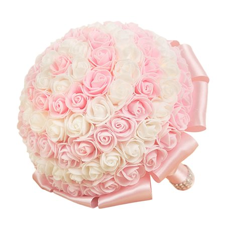 Portable wedding bride artificial flower rose silk flowers beautiful this button opens a dialog that displays additional images for this product with the option to zoom in or out mightylinksfo
