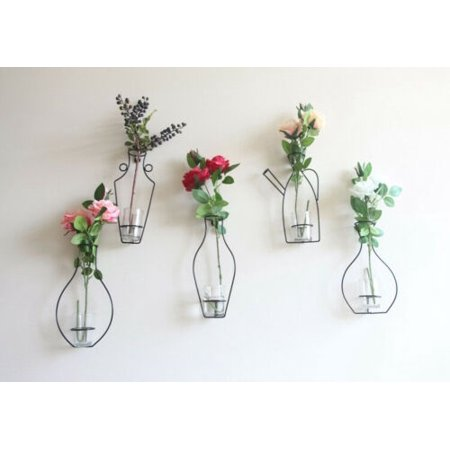 Hot Iron Rack (Hot Iron Wall Hanging Vase Shelf Flower Pot Holder Home Storage Rack Decor Display )