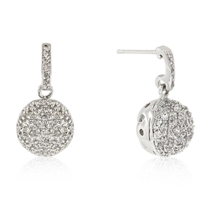 Kate Bissett E50085R-C01 Crystal Ball Dangle Earrings