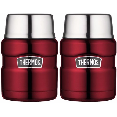 Thermos Stainless King Vacuum Insulated 16 oz. Food Jar (Cranberry Red) (Red Insulated Beverage Server)