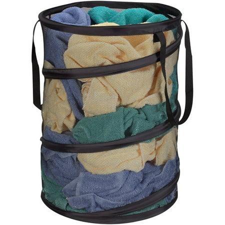 Household Essentials Pop Up Laundry Hamper Black