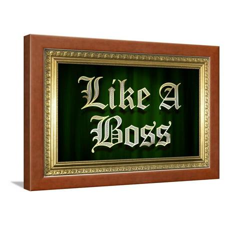 Like A Boss Faux Frame Humor Poster Framed Poster Wall