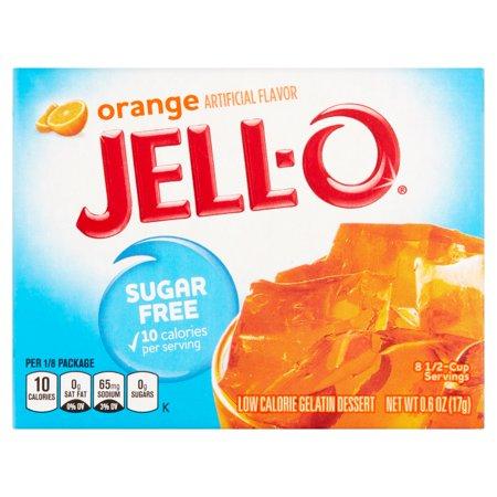 Jell-O Gelatin Dessert Sugar Free Orange, 0.6 Oz
