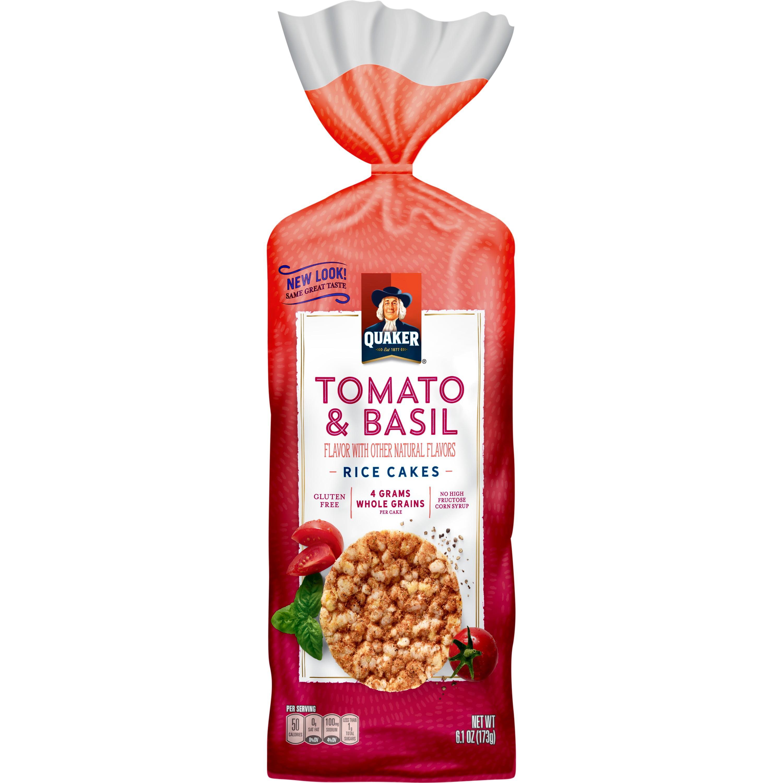 Quaker Garden Tomato Amp Basil Rice Cakes 6 1 Oz Walmart Com