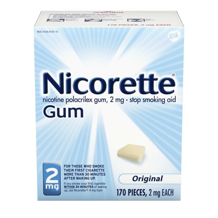 Nicorette Nicotine Gum to Stop Smoking, 2mg, Original, 170 Count Quit Smoking Gum