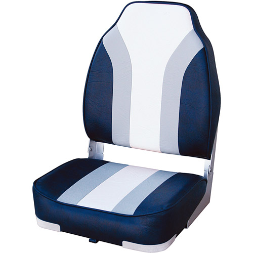 Wise Boat Seat, Navy/Grey/White