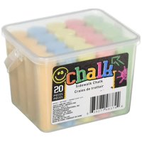 Chalk Jumbo Sidewalk Chalk 20 Count- 5 colors