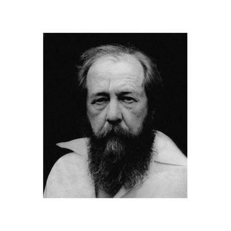 Aleksandr Isayevich Solzhenitsyn, 1980S Print Wall Art