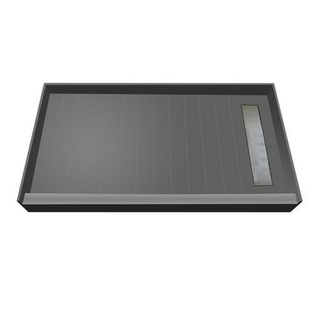 Tile Redi BaseN Bench Single Threshold Shower Base with Bench and Grate