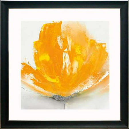North American Art N2059 26 x 26 in. Wild Orange Sherbet II Framed Art (Sherbet Stem)