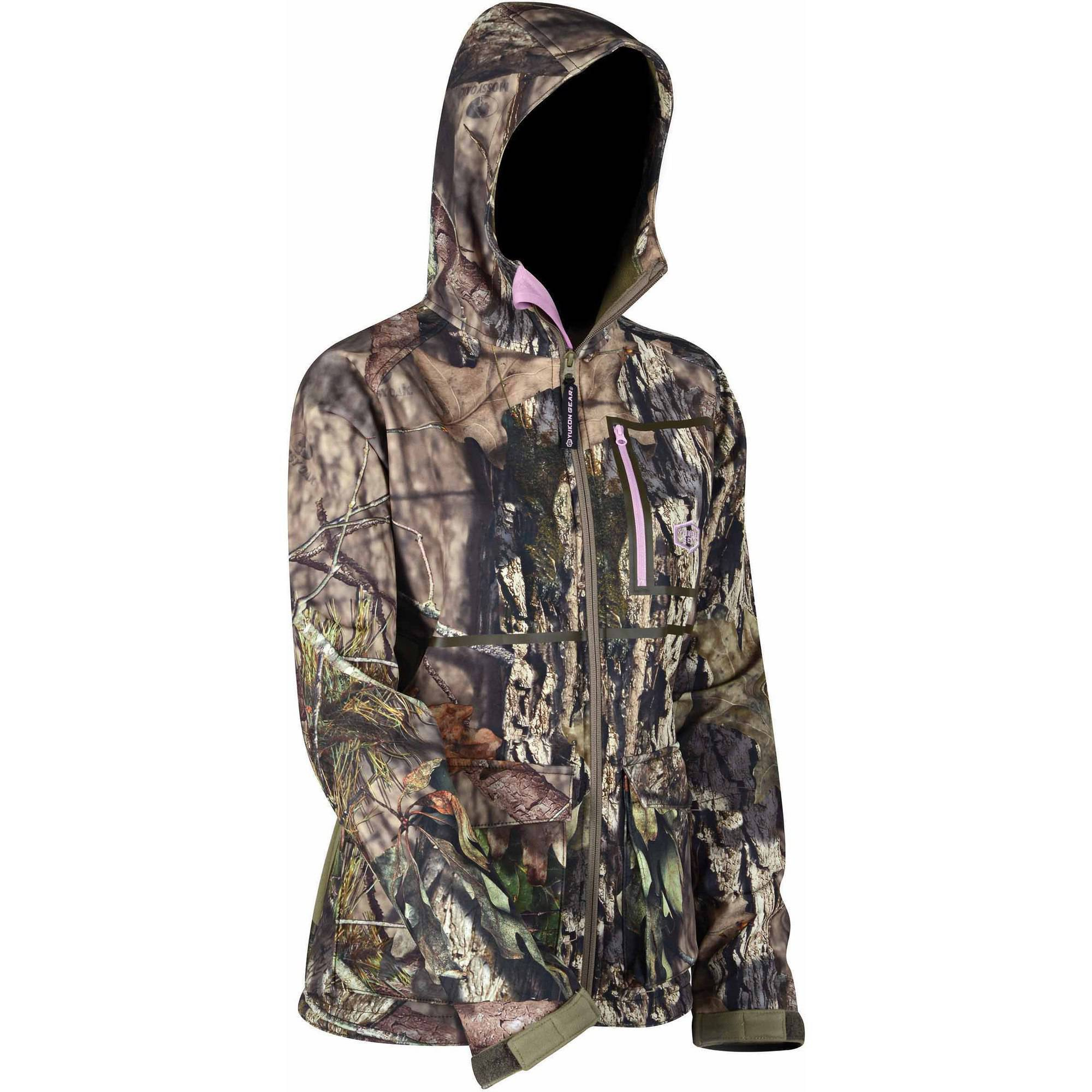 Yukon Gear Waylay Women's Softshell Outerlayer Jacket, Mossy Oak Country