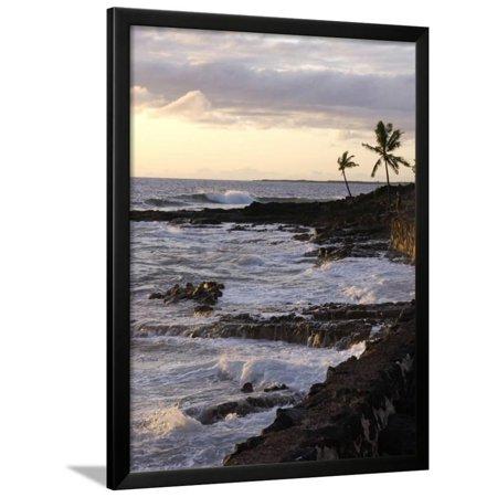 Kona Coastline, Island of Hawaii, USA Framed Print Wall Art By Savanah (Kona Titanium Frame)