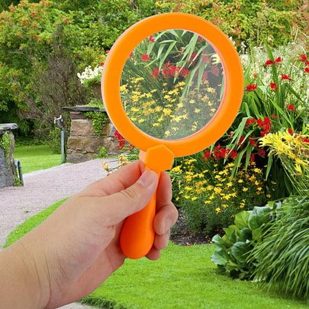 YLSHRF Kids Magnifying Glass,90mm Handheld Kids 3X Magnifying Glass Magnifier with Stand Children Educational Toys,Magnifying Glass