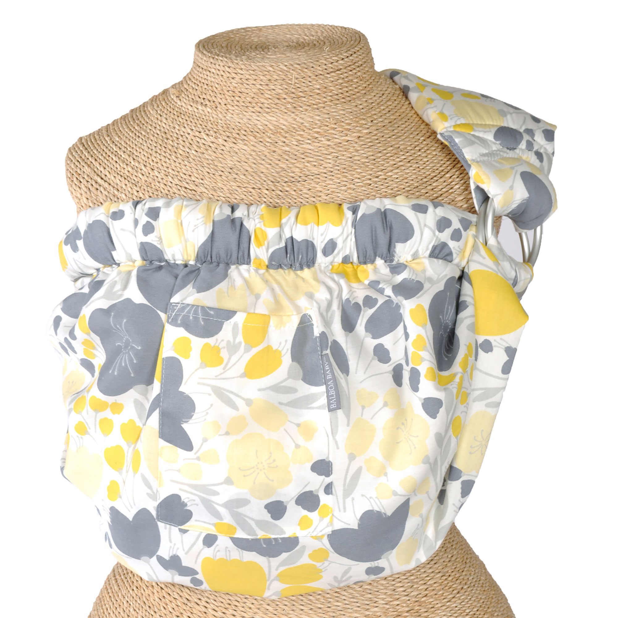 Balboa Baby Sling - Dr. Sears Adjustable Sling Carrier - Yellow Floral Design