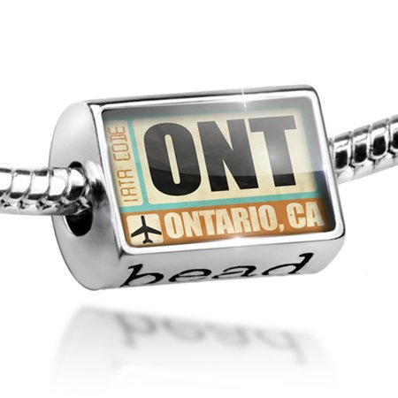 Bead Airportcode ONT Ontario, CA Charm Fits All European Bracelets (Party City Ontario Ca)