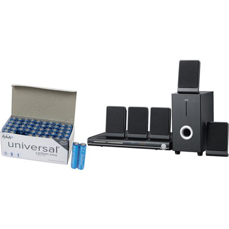 SYLVANIA SDVD5088 5.1-Channel DVD Home Theater System & UPG AAA 50 PK (Home Theaters Systems)