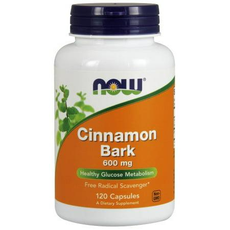 NOW Foods Cinnamon Bark Glucose Metabolism Support, 600mg, 120