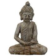 Meditating Buddha in Dhyana Mudra in Antique Finish