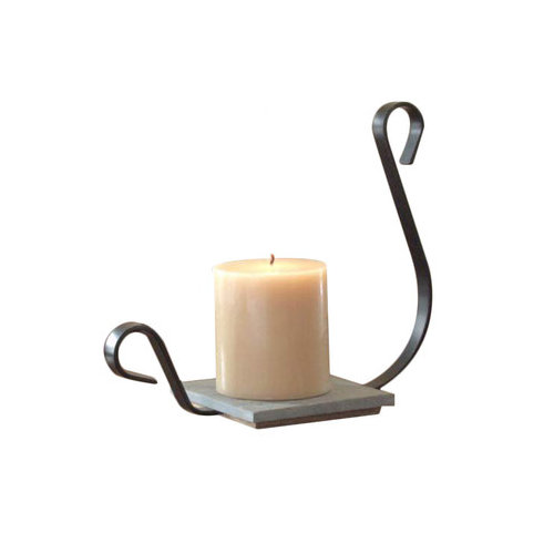 The Brass Butterfly Iron and Wood Aladdin Candle Dish