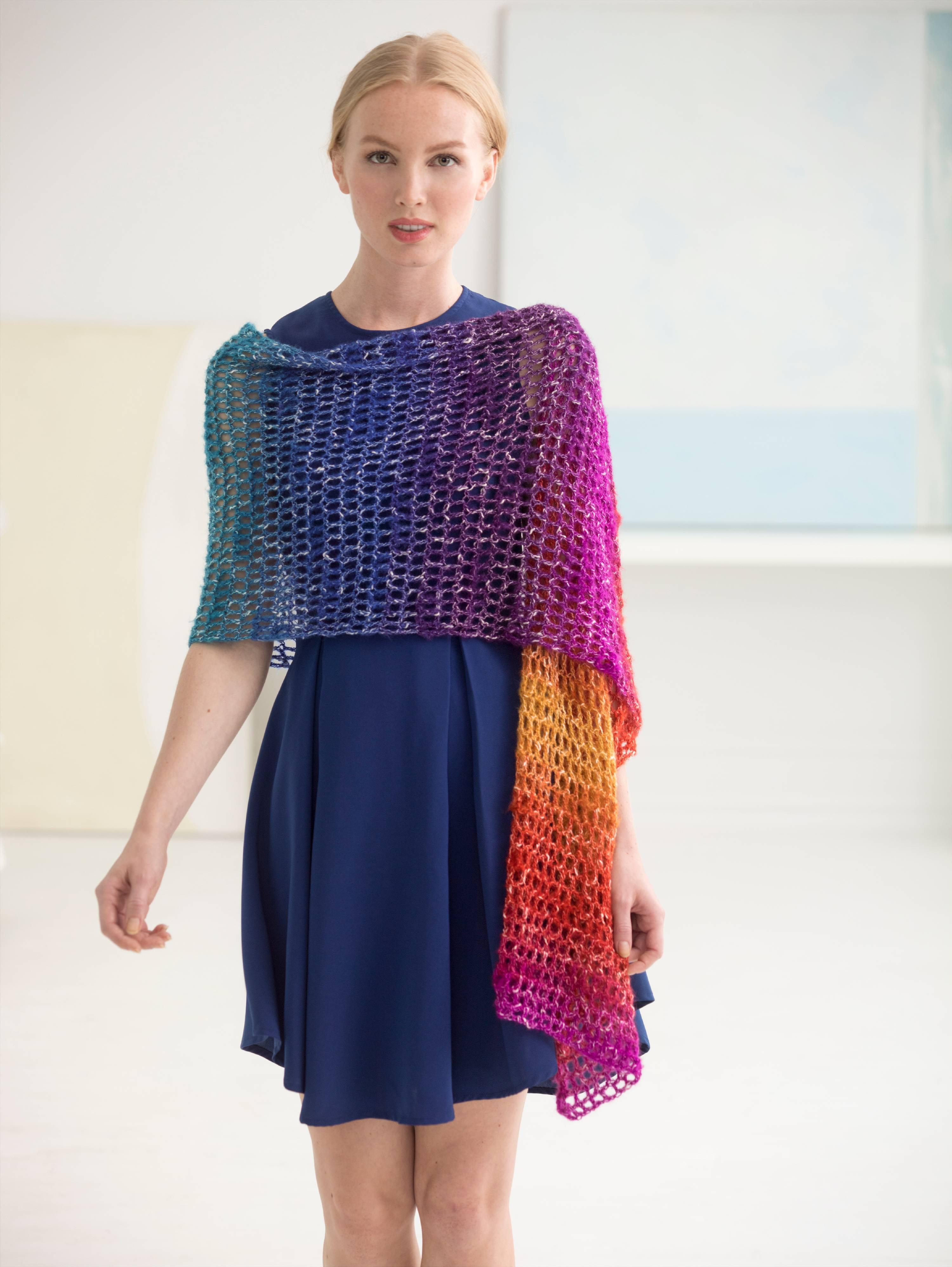 Lion Brand Yarn Shawl In A Ball Moonstone 828 301 3 Pack Fashion Silk Mohair Shawlette Allfreecrochetcom
