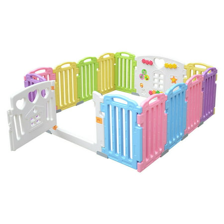 LIVINGbasics Baby Playpen Kids Play Yard 14 Panel Activity Centre Safety for Home/Indoor/ Outdoor - image 7 of 9