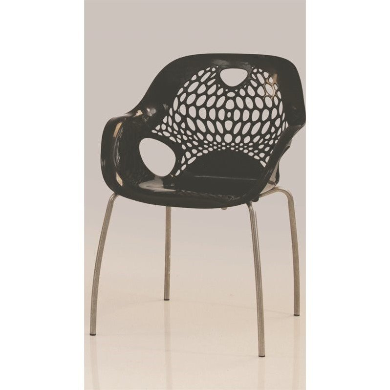 Mobital Nero Outdoor Dining Chair in Black (set of 4)