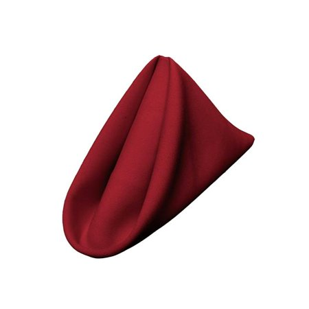 1818Pop-pk10-CranberryP28 Polyester Poplin Napkin, Cranberry - 18 x 18 in. - Pack of 10