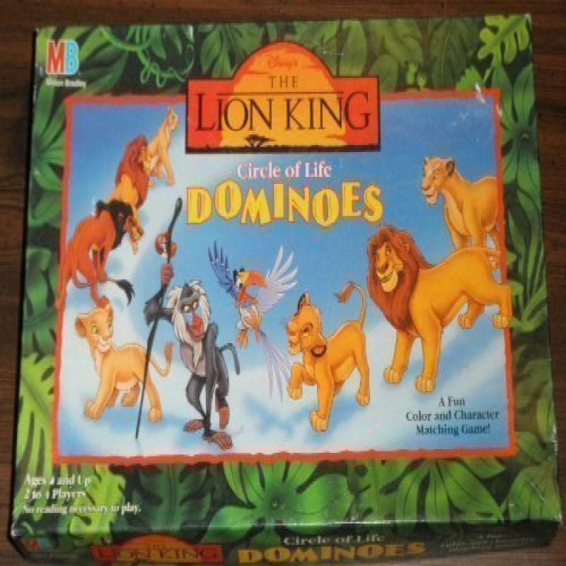 Disney the Lion King Circle of Life Dominoes by Milton Bradley by