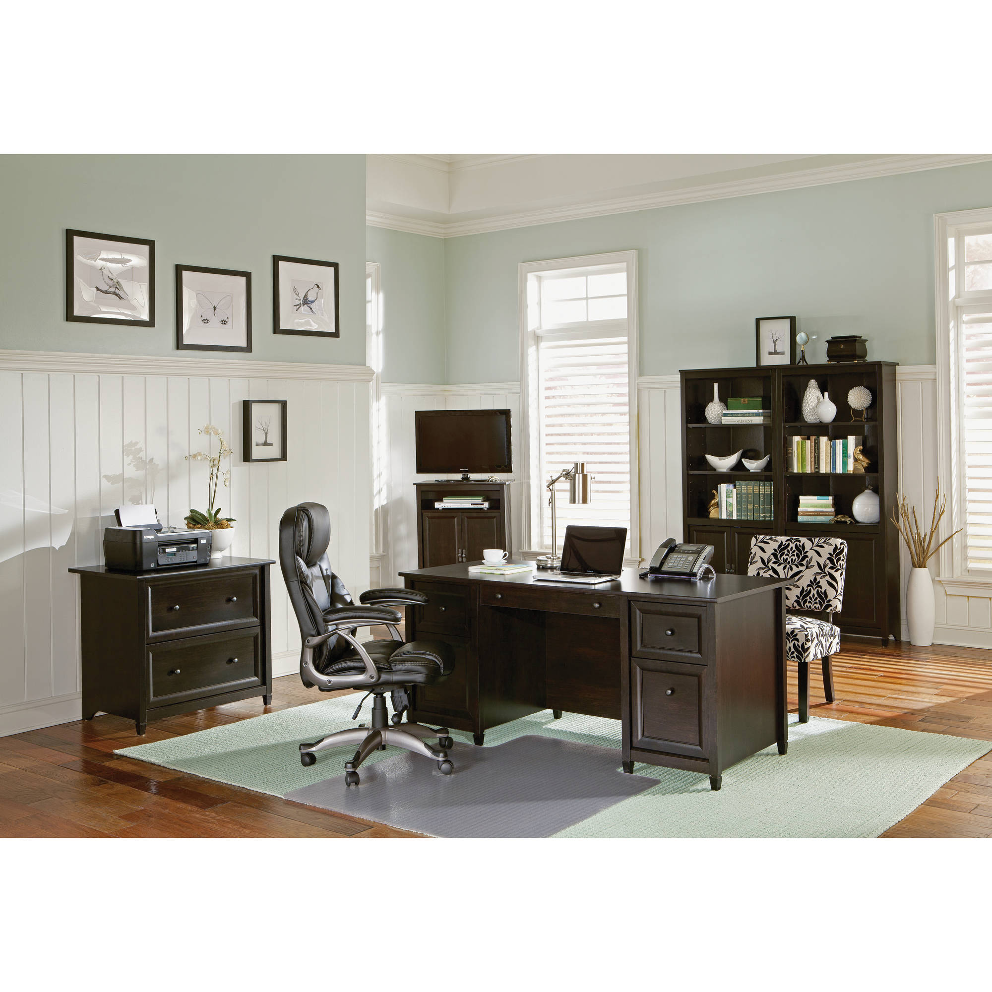 25 Cool Modular Home Office Furniture Designs: Sauder Edge Water Office Furniture Collection