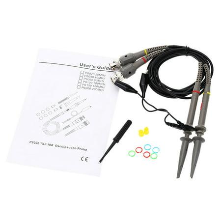 - P6060 60MHZ X10 X1 Probe Oscilloscope Probe Kit Oscilloprobe Oscilloscope Sonde