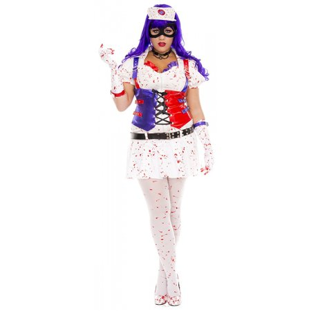 Hot Mess Harley Adult Costume - Plus Size 1X/2X (Snow White Costume Plus Size)